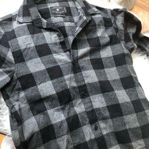 BNWOT Zara denim collection casual LS men's size S
